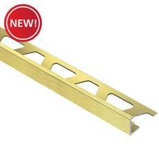 New! Schluter Jolly Edge Trim 1/2in. Aluminum Brush Brass