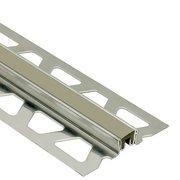 Schluter Dilex-Ksn 5/8in. Stainless Steel w/ 7/16in. Joint Gray
