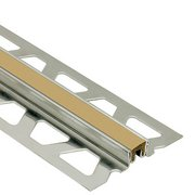 Schluter Dilex-Ksn 13/16in. Stainless Steel w/ 7/16in. Joint Light Beige