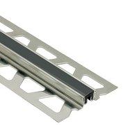 Schluter Dilex-Ksn 13/16in. Stainless Steel w/ 7/16in. Joint Black