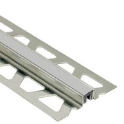 Schluter Dilex-Ksn 13/16in. Stainless Steel w/ 7/16in. Joint Classic Gray