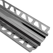 Schluter Dilex-Hks Cove 1/2in. X 7/16in. Stainless Steel / Black