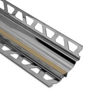 Schluter Dilex-Hks Cove 1in. X 7/16in. Stainless Steel / Light Beige