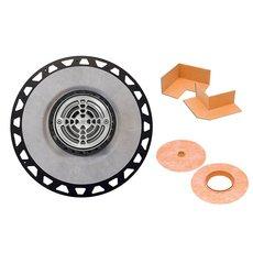 Schluter Kerdi-Drain PVC 3in. Flange / 6in. Round Grate Stainless Steel
