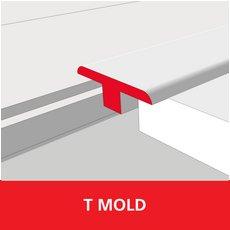 Color 901 Universal Unfinished Solid Hardwood T Mold