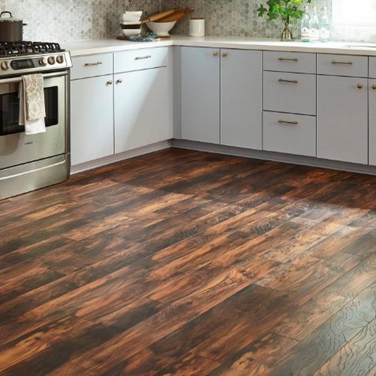 White Kitchen Hardwood Floors: Floor & Decor