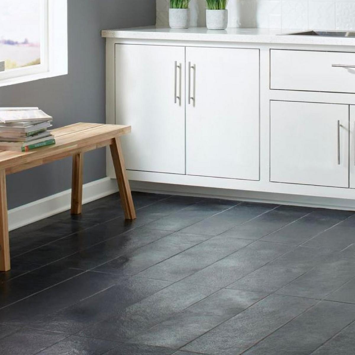White Kitchen Cabinets Tile Floor: Floor & Decor
